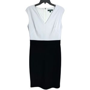 Ralph Lauren White Black Sleeveless Sheaths Dress